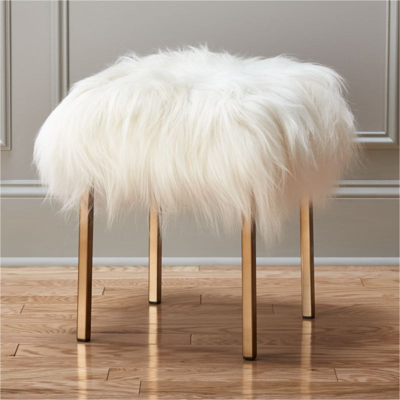White Ottomans Cb2
