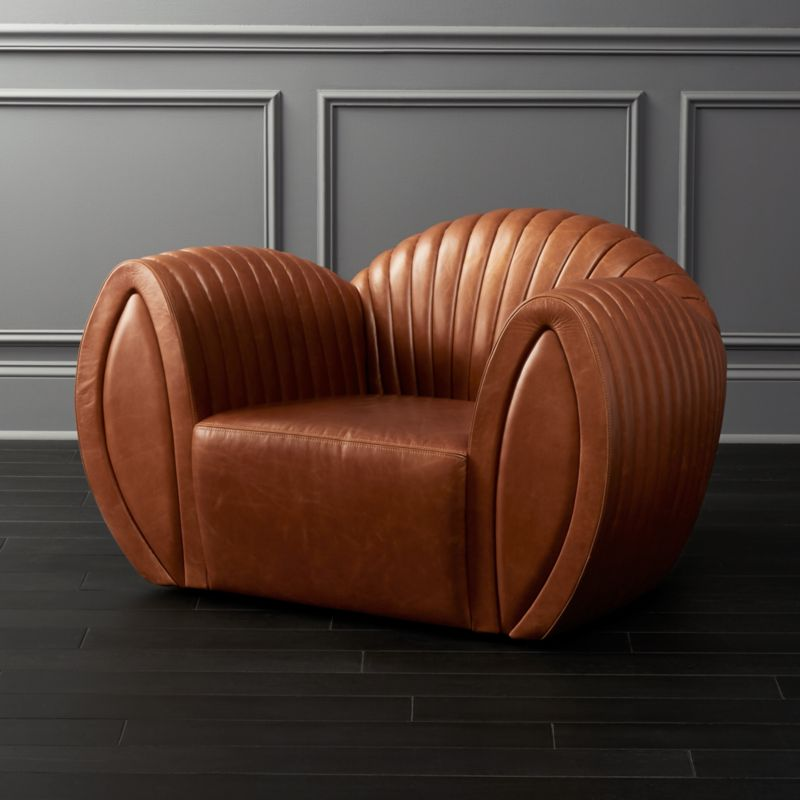 Leather Shell Armchair