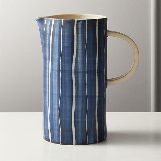 Shibori Ceramic Pitcher