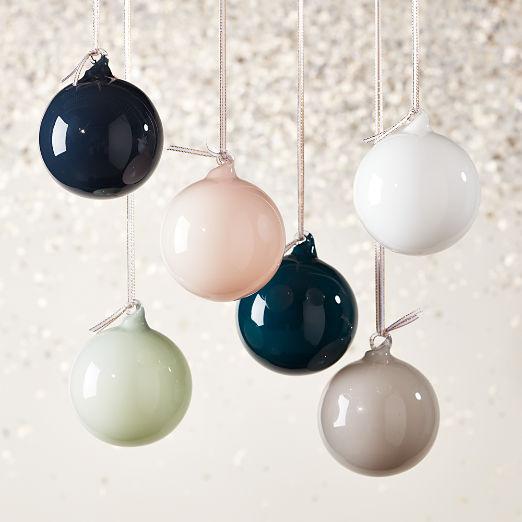 Opaque Ornaments Set of 6