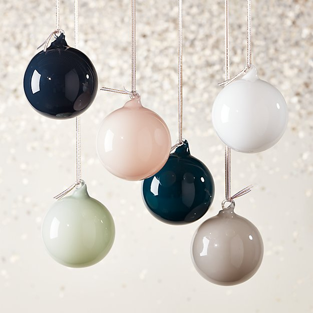 Opaque Ornaments Set of 6 - Image 1 of 4