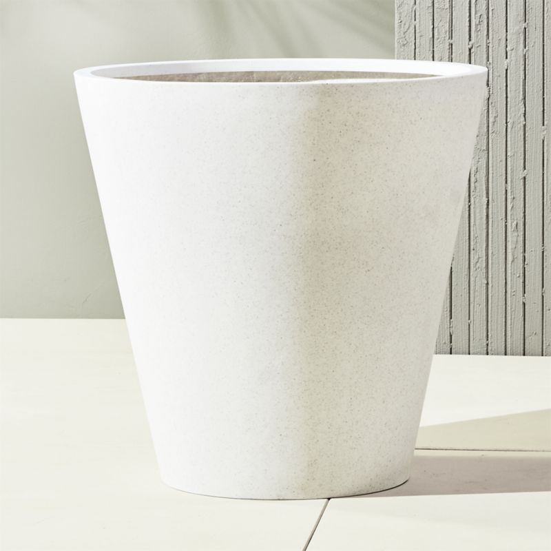 Shop Shore White Extra Large Outdoor Planters from CB2 on Openhaus