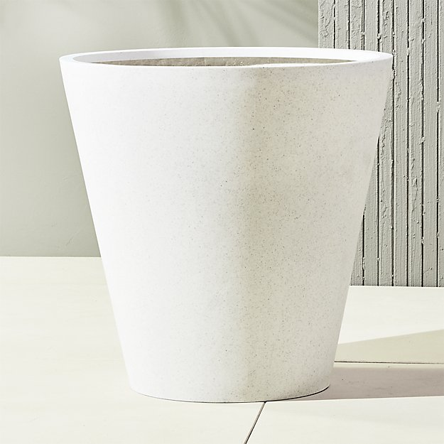 Shore White Extra Large Outdoor Planters Reviews Cb2