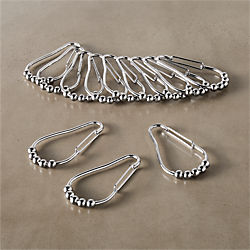 Shower Curtain Roller Clips Set Of 12