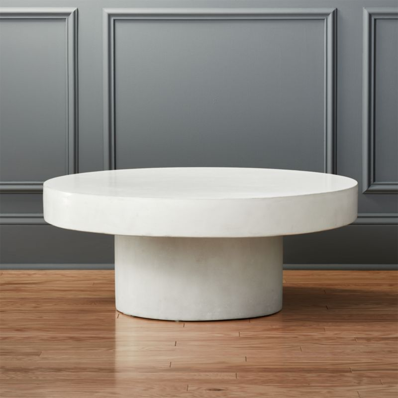 Shroom White Cocktail Table Reviews CB - Oval concrete coffee table
