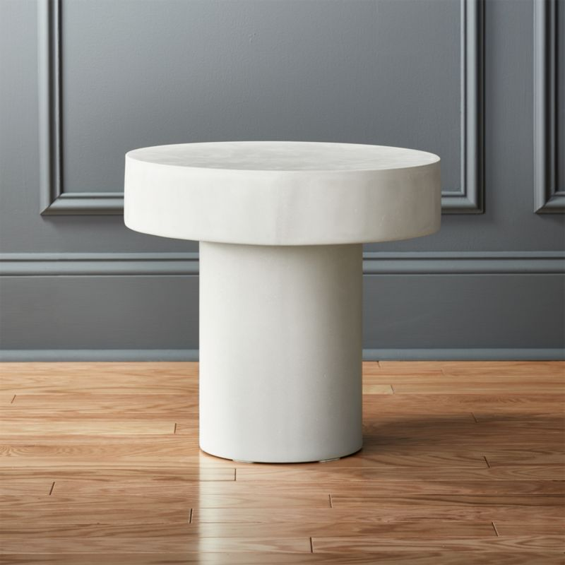 Charmant Shroom Stone Side Table + Reviews | CB2
