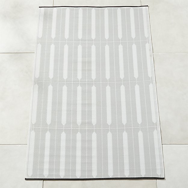 Shutter Ivory and Grey Outdoor Rug - Image 1 of 11