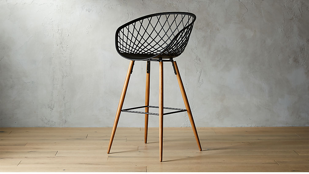 Sidera Black Bar Stool 30 Reviews Cb2