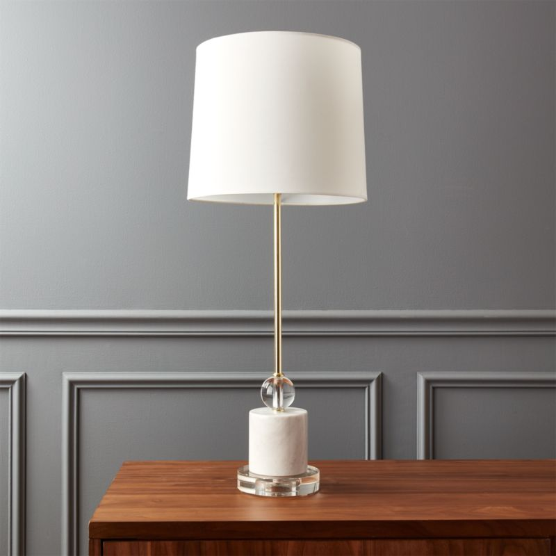 Gold table lamps cb2 siena marble base table lamp aloadofball Images