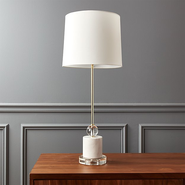 20th Century Pair Of Stylish Lamps Metal & Wood.