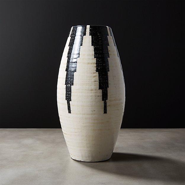 Siena Black And White Vase Reviews Cb2