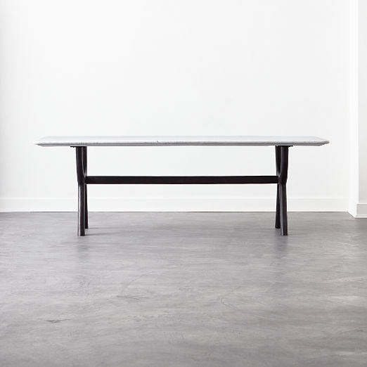 Sierra Cast Metal and Marble Dining Table