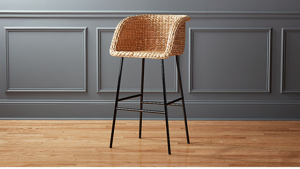 Silas Seagrass Bar Stool 30 Quot Reviews Cb2