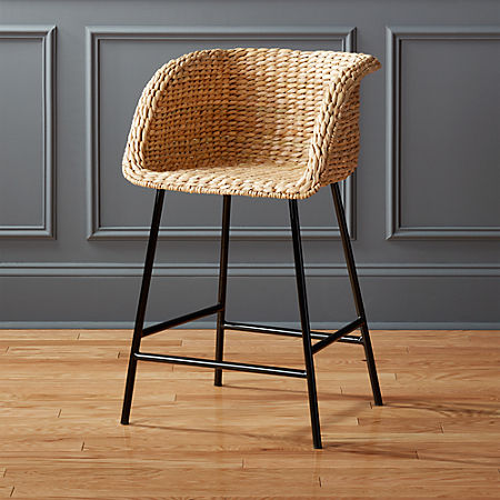 Excellent Silas Seagrass Counter Stool 24 Gmtry Best Dining Table And Chair Ideas Images Gmtryco