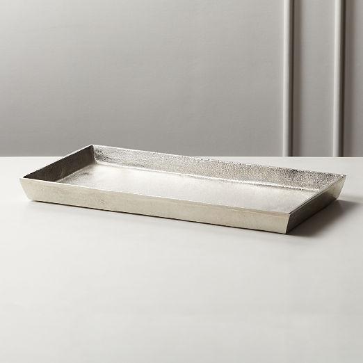Silver Cast Aluminum Tray