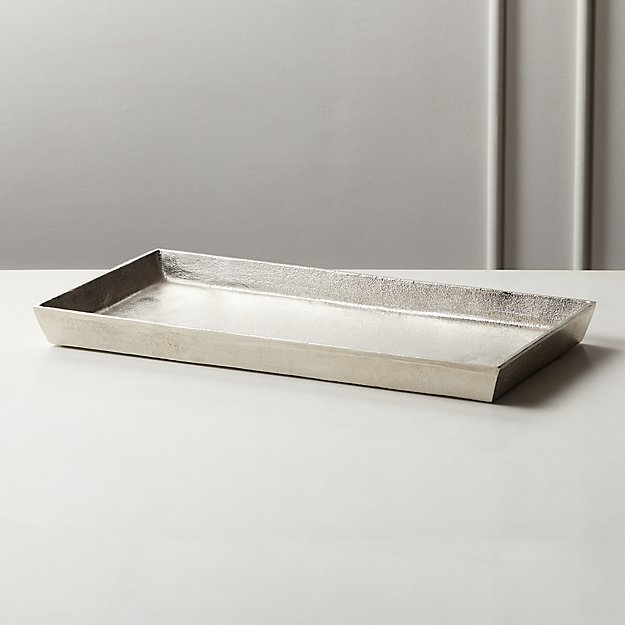Silver Cast Aluminum Tray - Image 1 of 4