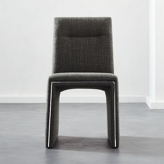 Silver Lining Grey Armless Dining Chair & Modern Dining Chairs: Accent Cafe and Kitchen Chairs | CB2
