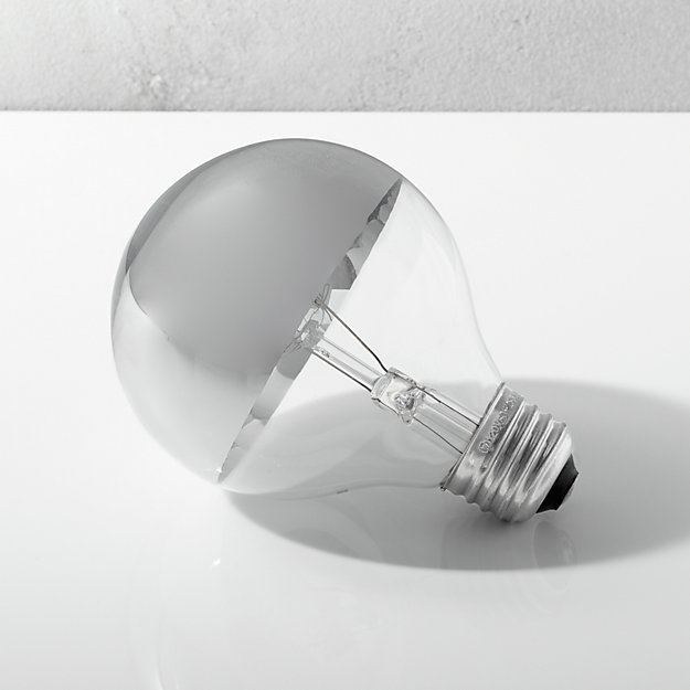 G25 Silver Tipped 60W Light Bulb - Image 1 of 8