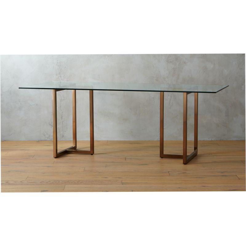 Incredible Silverado Brass 80 Rectangular Dining Table Creativecarmelina Interior Chair Design Creativecarmelinacom