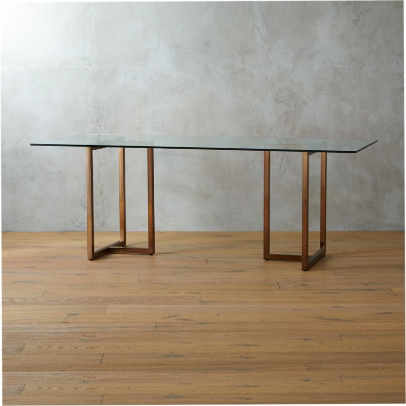Silverado Glass And Chrome Dining Table Reviews CB - Cb2 glass top dining table