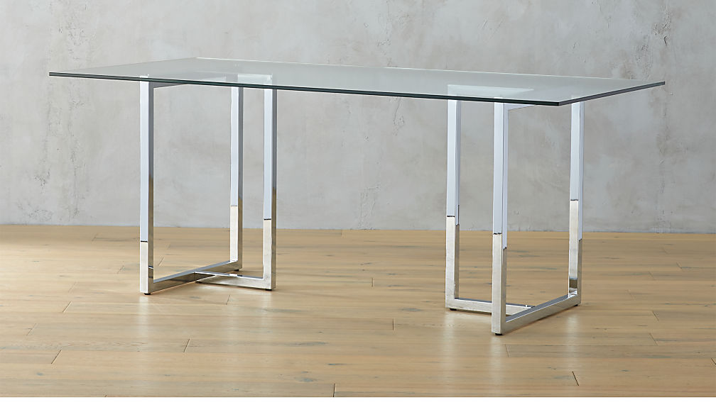 Silverado Chrome Dining Table Reviews CB - 72 trestle dining table