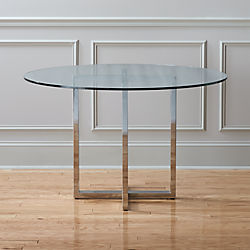 unique round dining table extra large silverado chrome 47 unique modern dining tables cb2