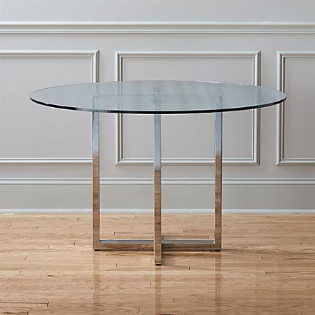Miraculous Silverado Chrome 47 Round Dining Table Creativecarmelina Interior Chair Design Creativecarmelinacom