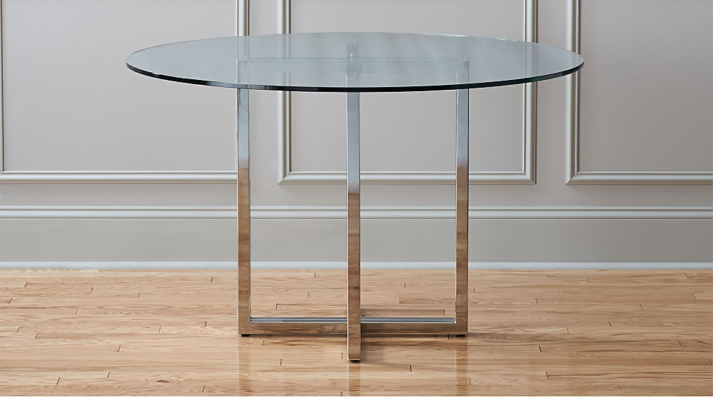 Round Dining Table Dining Room Ideas - Cb2 expandable dining table