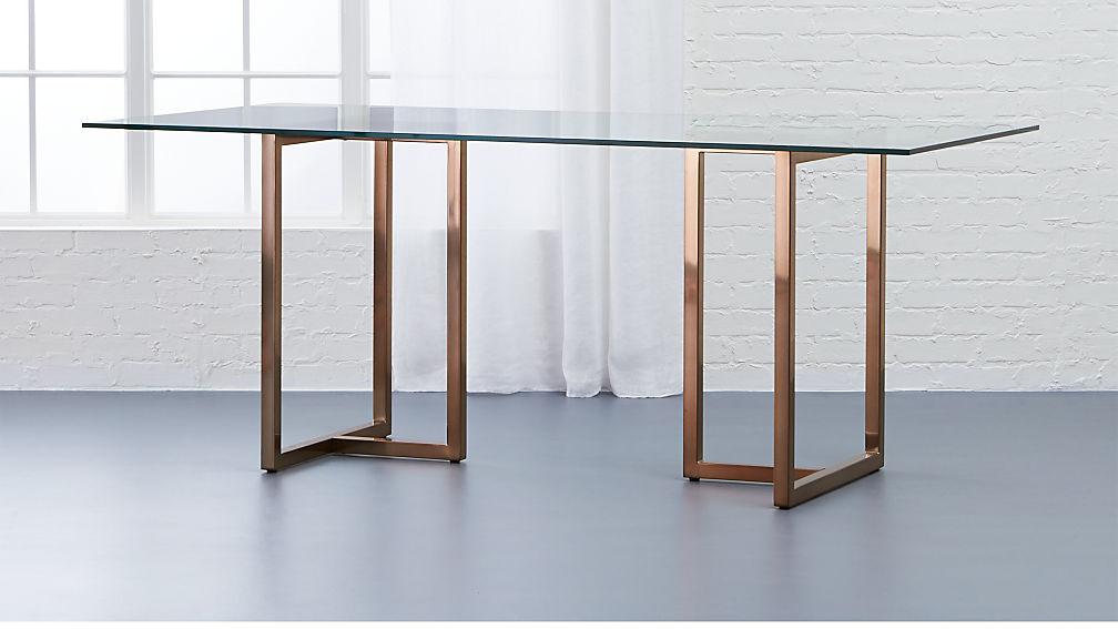 "Silverado Brass 72"" Rectangular Dining Table - Image 1 of 5"