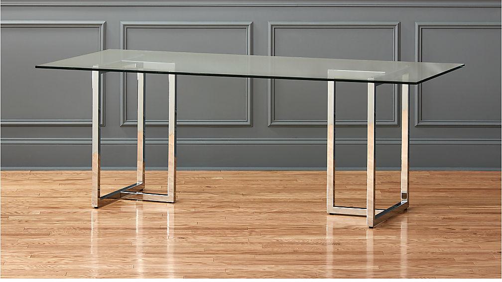 "Silverado 80"" Glass And Chrome Dining Table + Reviews"
