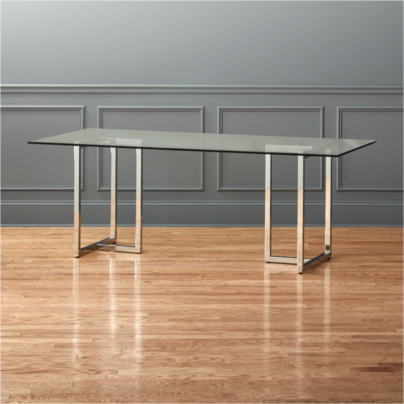 Glass Dining Tables CB - Cb2 glass top dining table