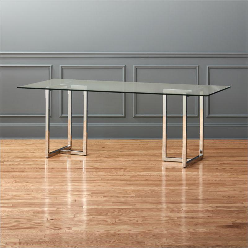 Glass Dining Tables CB - Silverado rectangular coffee table