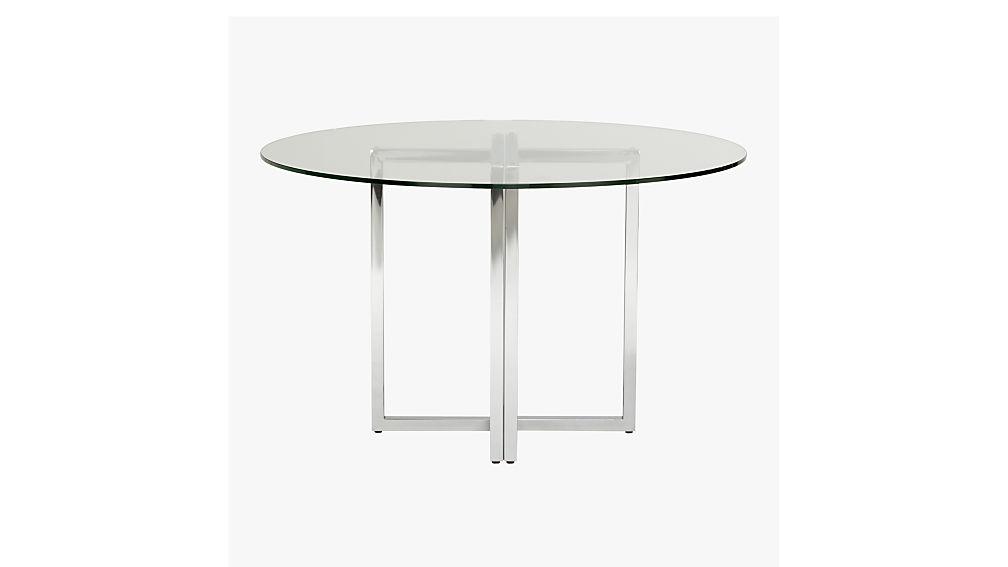 Silverado Chrome 47 Round Dining Table