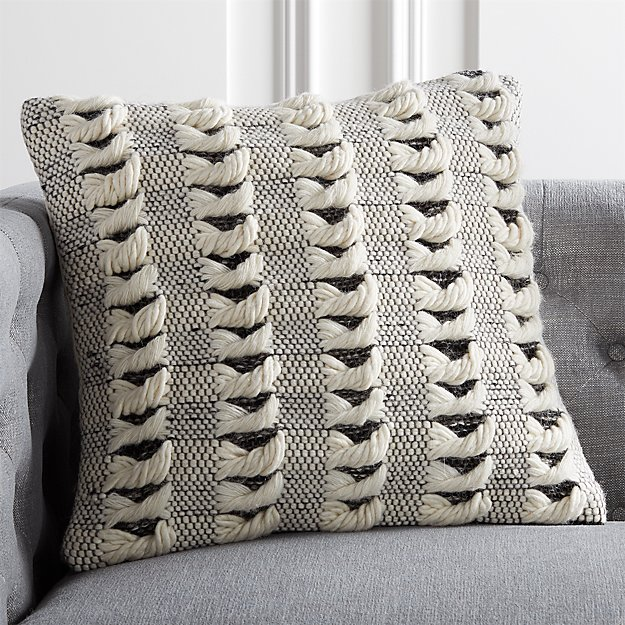 "20"" Simon Ivory Wool Pillow - Image 1 of 6"