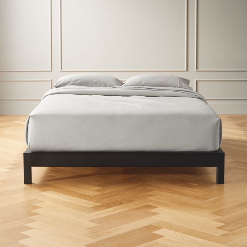 Simple Metal Bed Base Full Reviews Cb2