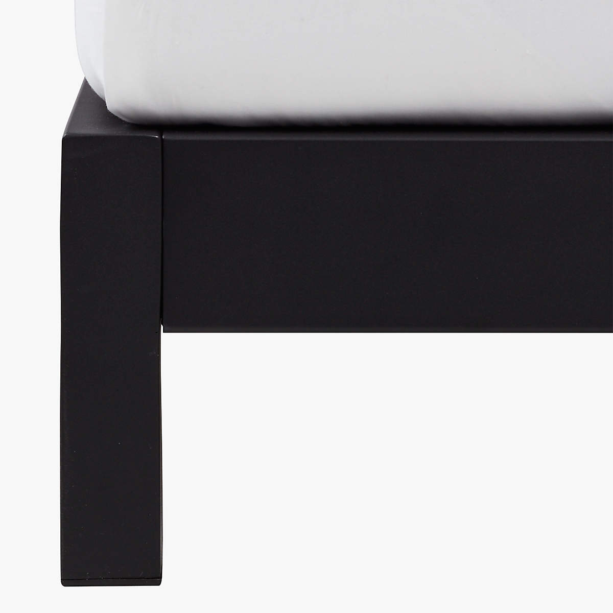 Simple Black Metal Bed Base- image 3 of 3 (Open Larger View)