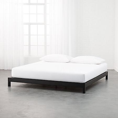Simple Black Metal Bed Base King