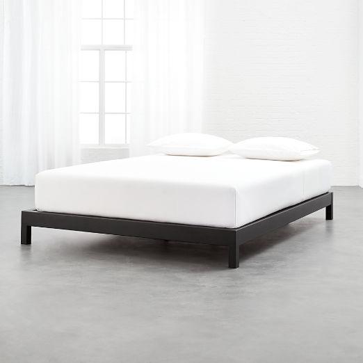 Simple Black Metal Bed Base