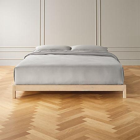 Simple Whitewash Bed Base King