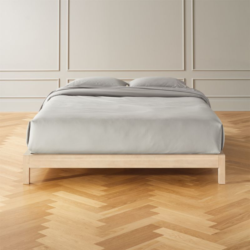 Simple Whitewash Bed Base Queen
