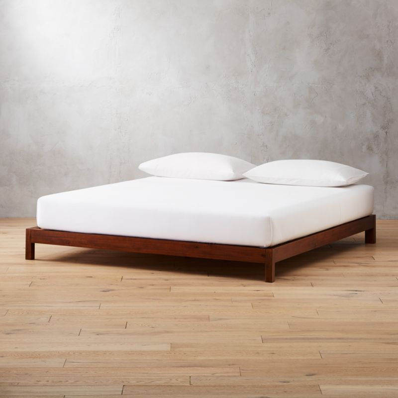 Acacia Wood Bed Base California King