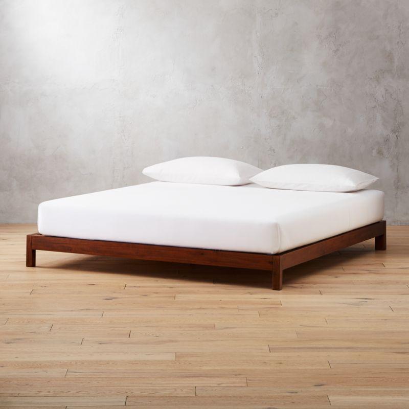 Acacia Wood Bed Base California King