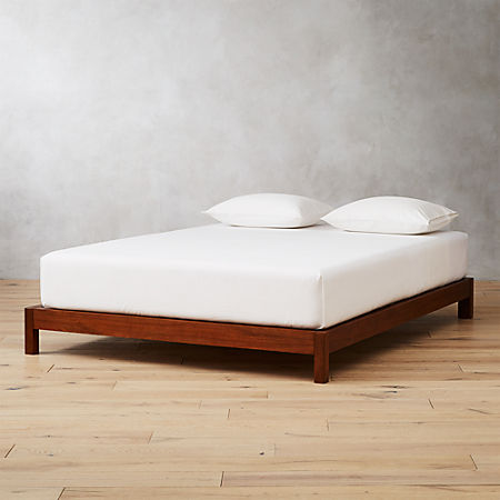 Simple Acacia Wood Bed Base