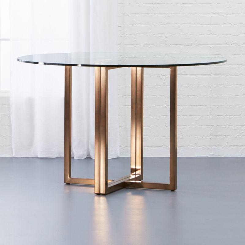 Silverado Brass Round Dining Table Reviews CB - Cb2 kitchen table