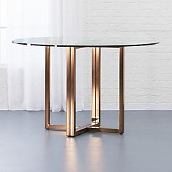 unique round dining table round shape silverado brass 47 unique modern dining tables cb2