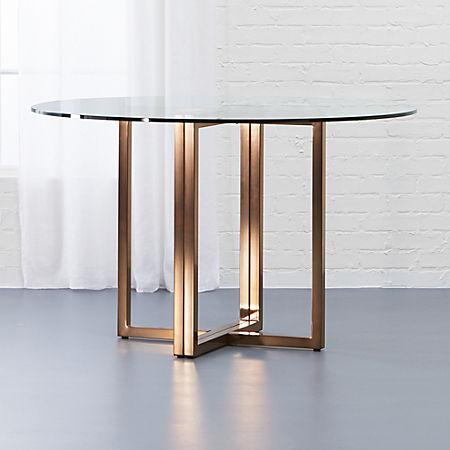 Superb Silverado Brass 47 Round Dining Table Creativecarmelina Interior Chair Design Creativecarmelinacom