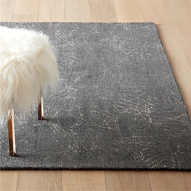 Sketch Grey Wool Pile Rug - Image 1 of 6