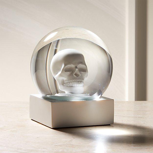 Skull White Snowglobe - Image 1 of 5