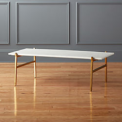 Slab Small Marble Coffee Table With Br Base