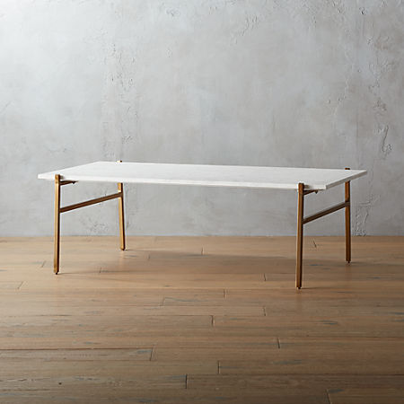 Tremendous Slab Large Marble Coffee Table With Brass Base Ncnpc Chair Design For Home Ncnpcorg